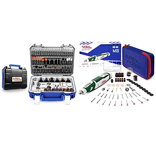 APEXFORGE Rotary Tool Accessories Kit with 8V Cordless Rotary Tool Green