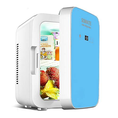 NCBH Mini frigorífico Refrigerador Compacto de 8 litros Refrigerador Compacto 12V / 220V-240V Funcionamiento termoeléctrico silencioso de Doble Entrada Adecuado para Interiores y Exteriores