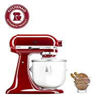 KitchenAid Ice Cream Maker Attachment - Excludes 7, 8, and most 6 Quart Models, Fits 5 to 6 quart Mixers