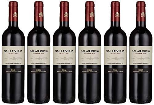 Solar Viejo Crianza, Wein, Trocken, 14% Alkohol (6 x 0,75l Flasche) - Tempranillo-Wein der Weinreben Spaniens