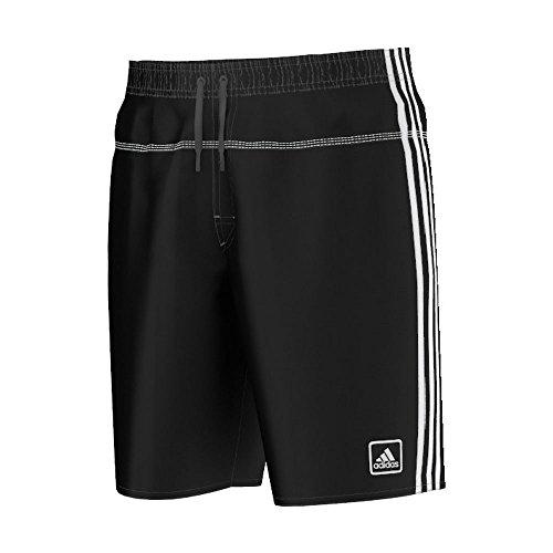 adidas Herren Badehose 3-Stripes Authentic Shorts Badeshorts, Black/White, L