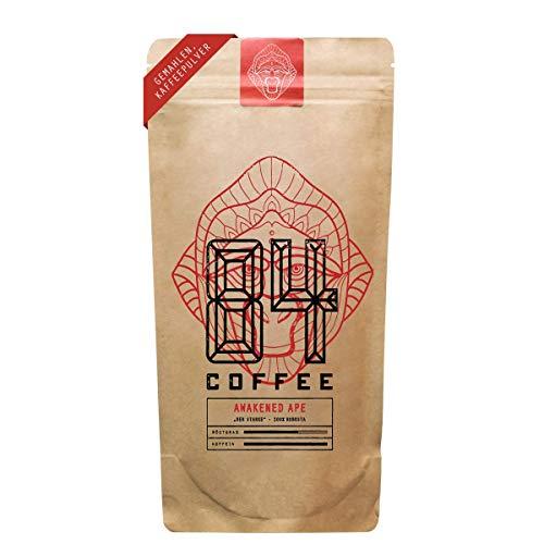 84 Coffee - Vietnamesischer Kaffee - Awakened Ape - Dunkel geröstet - 100% Robusta -fairer & direkter Handel - frisch & schonend geröstet - Kaffeebohnen (1kg - gemahlen)