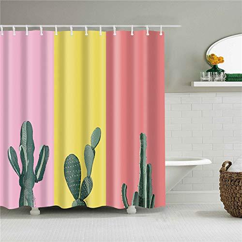 Deirdre Agnes Douchegordijn badkamer gordijn waterdicht polyester meervoudig douchegordijn 180 * 180 cm