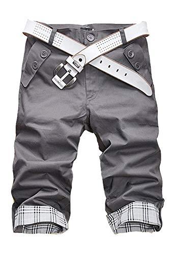 Minetom Homme Shorts Slim Fit Pantalon Courts Style...