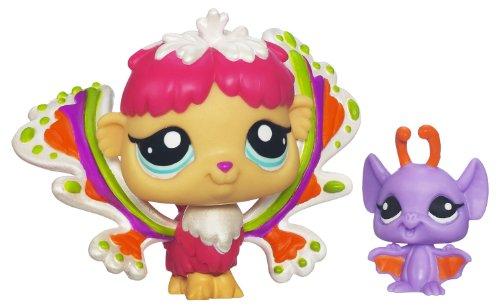 Littlest Pet Shop Enchanted Fairies Shimmering Sky - 2 Pack: Rain Prism Fairy #2712 & Bat #2713