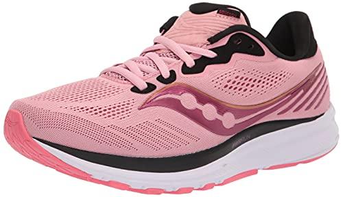 Saucony Women's Ride 14 Running Shoe, Rosewater/Punch, 10