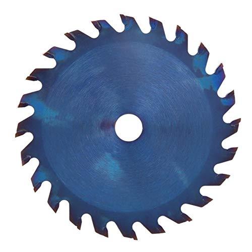 XIANGSHAN 85 * 10/15 mm 24T / 30T / 36T carburo Azul Chapado de Sierra Circular de Corte de la Hoja de Disco for la Madera Blanda Metal carpintería Herramienta de Corte rotativa (Color : 85x10x30T)