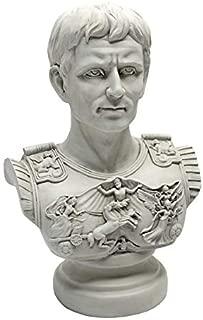 Design Toscano Augustus Caesar Primaporta Bust Statue, 18 Inch, Antique Stone