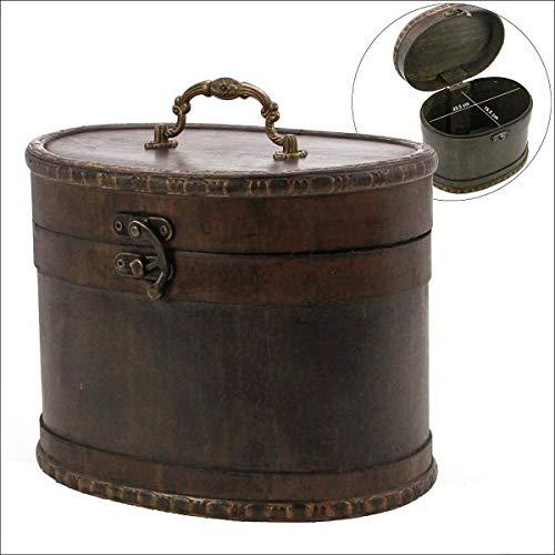 Schatzkiste Holz Midi: Schatzkiste rund Format Midi. Diese Schatzkiste ist aus Echtholz gefertigt im Stil der klassischen Hutschachteln vergangener ... Dinge. Format ca. 23 x 17 x 18 cm