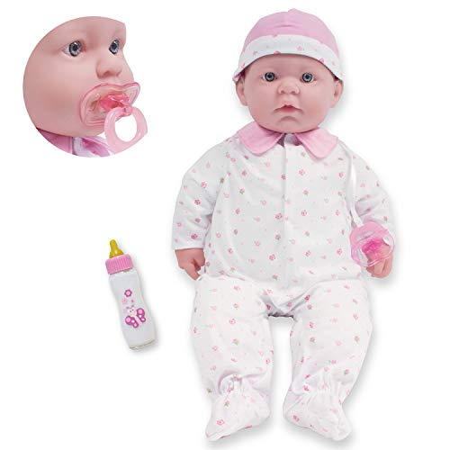 Caucasian 20-inch Large Soft Body Baby Doll   JC Toys - La Baby   Washable  Removable Pink Outfit w/ Hat and Pacifier   For Children 2 Years +