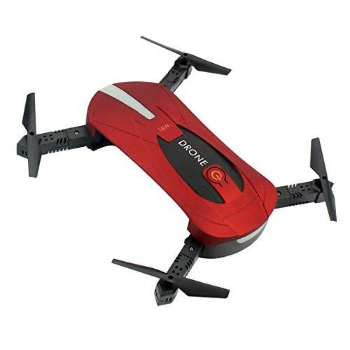GEHOO GH JY018 Elfie WiFi FPV Quadcopter Mini Pieghevole Selfie Drone RC Drones con Fotocamera 2MP HD FPV H37 720P RC Elicottero (Rosso)