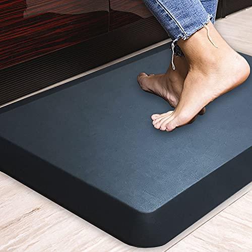 HEALEG Komfort Anti-Ermüdungsmatte ideal für Küchen & stehend Schreibtische, schwarz, 20x30x1-Inch