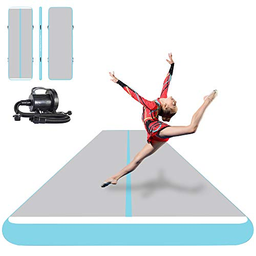 ibigbean Inflatable Gymnastics Tumbling Tracker Equipment Mats - for Cheerleading, Gymnastics...