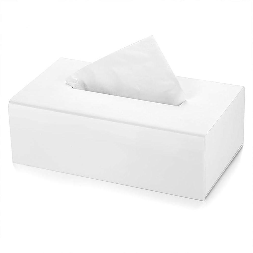 不愉快サンダーこねるSYF-SYF 家庭組織ホルダーアクリルティッシュボックスつや消しミラー紙タオルホルダー矩形ナプキンホルダ21x12.3x7cm、白 ティッシュボックス