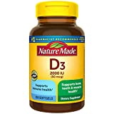 Nature Made Vitamin D3 2000 IU (50 mcg) Softgels, 250 Count Everyday...
