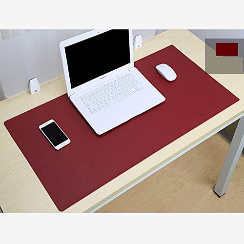 Pu-Leder Mauspad Multifunktionale Schreibtischunterlage Protecter Nicht-Slip Wasserdicht Mauspad Extra Extended Large Schreibtischunterlage Für Gaming Office Home Rotwein 60x30cm(24x12inch)