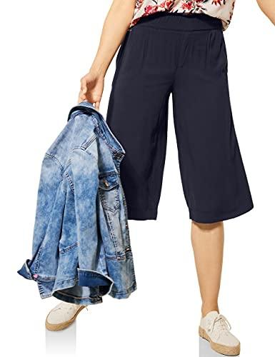 Street One Damen Wide Legs Hose, Dark Foggy Blue, W38/L18