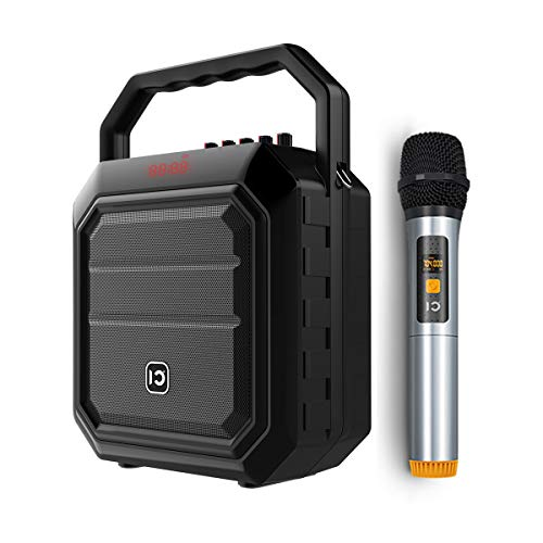 Portable Voice Amplifier Pa System Wireless Handheld Microphone with Speaker Sound Amplification Megaphone Karaoke Player Amp for Meeting, Presentation, Wedding, BBQ, Outdoor Activities, etc