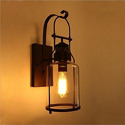 Anbirazm E27 Vintage rusticos Lámpara de pared para el dormitorio Sala de estar Bar Pasillo Baño Cocina Escalera Libro plegado telescópico Vintage Decoración de pasillo de ciudad Apliques de Pared: Amazon.es: Iluminación