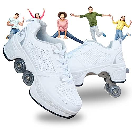 Chaussure avec Roue Baskets Enfants Clignotante Chaussures À roulettes LED Chaussures Lumineuse À roulettes...