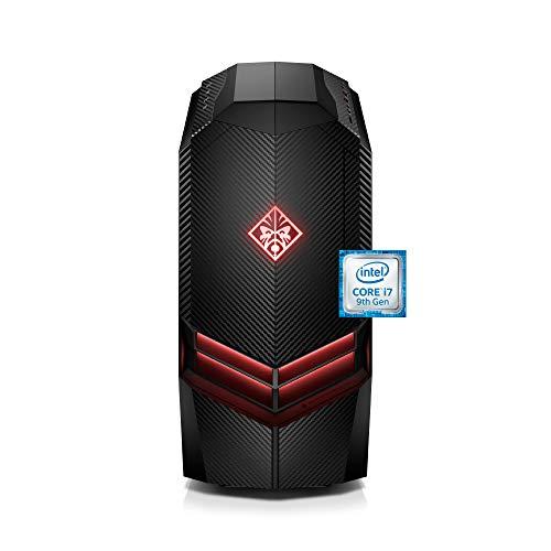 OMEN by HP Gaming Desktop Computer, Intel Core i7-9700K Processor, NVIDIA GeForce RTX 2070 8 GB, HyperX 16 GB RAM, 1 TB Hard Drive, 256 GB SSD, Windows 10 Home (880-160, Black)