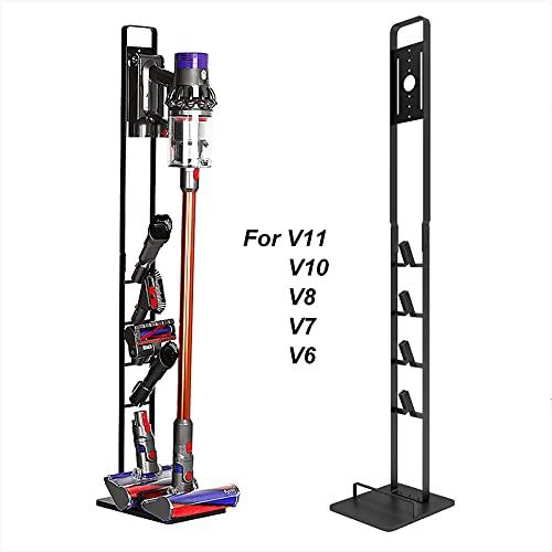 BENOSS Stable Metal Storage Bracket Stand Holder No-Drill Vacuum Docking Station for Dyson Handheld for V11 V10 V8 V7 V6 Cordless Vacuum Cleaners and Accessories