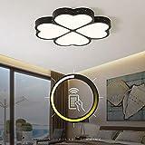 LCTCXD LED Quadrifoglio luce di soffitto, dimmerabili soffitto Lampadario creativo ultra-sottile acrilico apparecchi for interni for soggiorno sala da pranzo, cucina Decoration AC110-240V