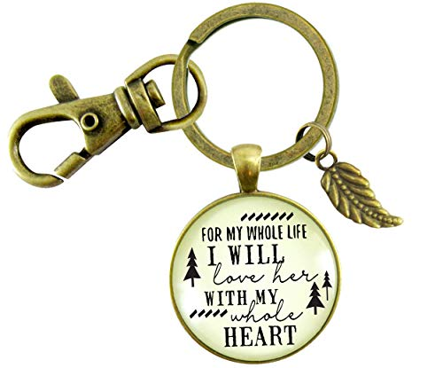 Gutsy Goodness Father of The Bride Gift Keychain For Whole Life I Will Love Her Promise From Groom Wedding Key Ring