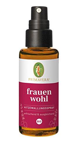 PRIMAVERA Frauenwohl Hitzewallungsspray bio 50 ml - Körperspray mit blumigem Duft - Aromatherapie - erfrischend, ausgleichend - vegan