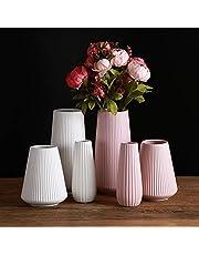 フラワーベース-花瓶-陶器-和風-花器-ブラック-北欧-つや消し面-し大 かびん 手作り フラワーベース ホワイト フラワーベース 陶器 YHOMBES