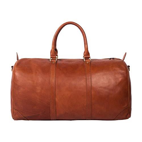 HOLZRICHTER Berlin No 8-2 (L) - Large Premium Weekender Leather Travel Bag