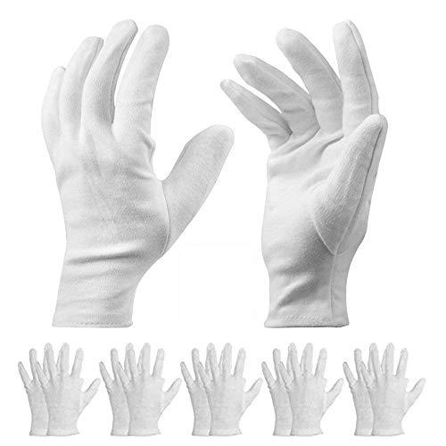 WISTOMJP 1双セット コットン手袋 綿 手荒れ予防 湿疹用 乾燥肌用 保湿用 礼装用 手袋 作業用 インナー手袋