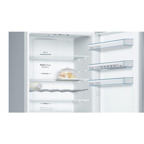 Bosch Elettrodomestici KGN56XL30 Frigo-congelatore (505 L, N-ST, 18 kg/24h, A++, Scomparto zona fresca), Acciaio inossidabile