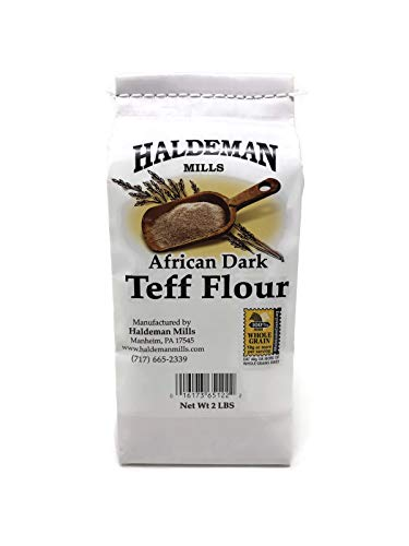 Haldeman Mills Whole Grain African Teff Flour, Perfect for Baking and Cooking, 2 Lb. Package (Brown Teff)