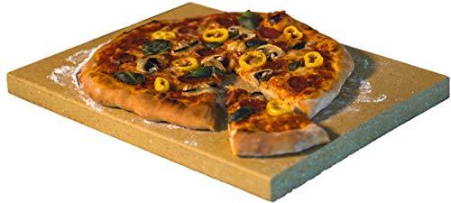 Kaminprofi Pierre à pizza pour four et grill 40 x 30 x 3 cm – Fabriqué en Schamotte massive – Utilisable comme plaque à pain & plaque de cuisson plate – Qualité professionnelle comme pour l'italienne
