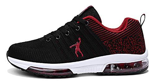 Zapatillas de running para hombre, de tejido para exterior, running, fitness, running, running, Rojo (rojo), 39 EU