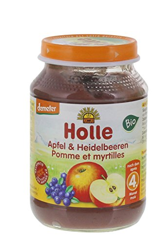 Holle Bio Apfel & Heidelbeeren (6 x 190 gr)