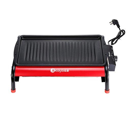 NANXCYR Rookvrije multifunctionele kookplaat elektrische kolengrill met dubbel gebruiksdoel, energiebesparende, draagbare elektrische huishoudkachel, houtskoolgrill voor buiten