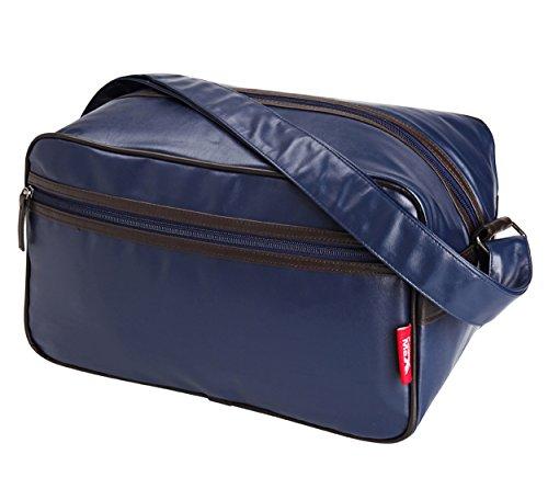 Cabin Max Arezzo, borsone da stipare 20x35x20cm, borsone a tracolla - ottimo come secondo bagaglio per Ryanair (Blu)