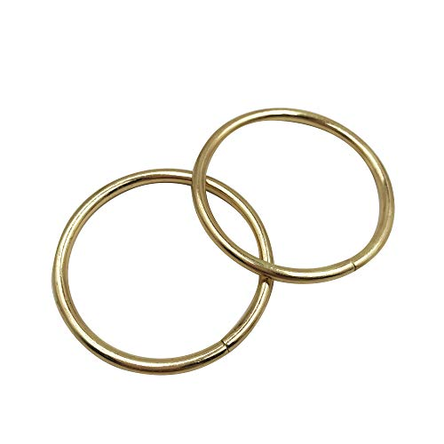 50 Pcs Gold Non-Welded O Rings - Metal O Ring for Hardware Bags Ring Hand DIY Accessories - 38mm,Q1836