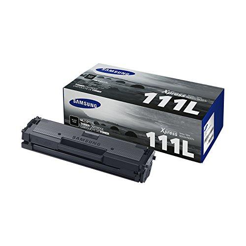 Samsung MLT-D111L - Cartucho de tóner, 1800 páginas, color negro