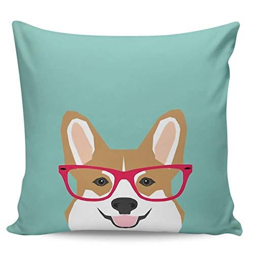 Sea Girl - Gafas de té suaves Corgi para perros y dueños de mascotas, diseño de corgi, para interior de tu hogar (50,8 x 50,8 cm)