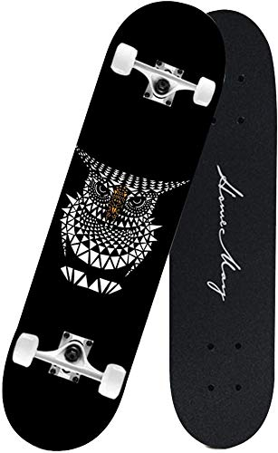 Skateboards estándar Monopatín Profesional, Principiantes 4 Ruedas de Largo Tablero Adulto All-Alrededion...