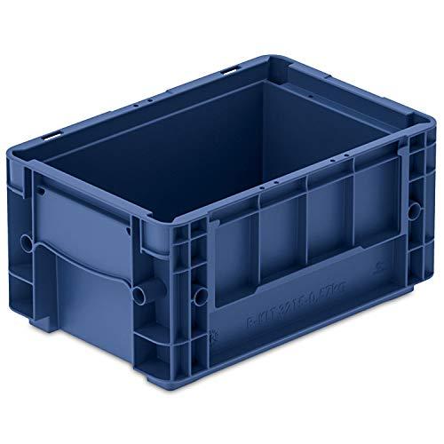 VDA-R-KLT 3215, 300 x 200 x 147 mm, Kleinladungsträger, Kunststoffbehälter, Lager- und Transportbox Industrie, 1 St, Blau