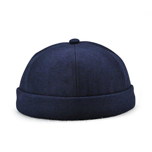 Harilla Retro Chino Docker Worker Cap Skull Cosplay Dance Party Sombreros Disfraz - Azul oscuro, Único