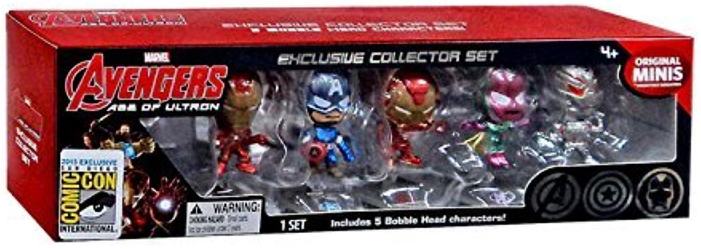 2015 SDCC Marvel Avengers Age of Ultron Set of 5 Original Bobble Head Minis by Blip Toys