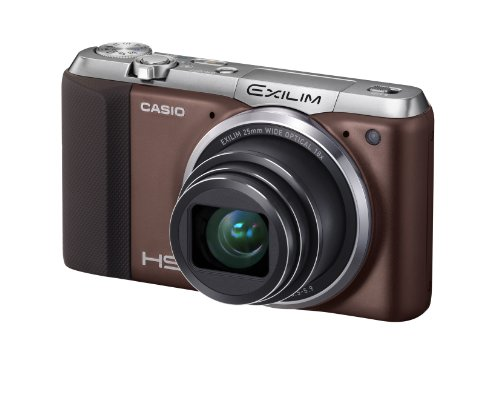 Casio Exilim EX-ZR700 Digitalkamera (16,1 Megapixel, 7,6 cm (3 Zoll) Display, 36-fach Multi SR Zoom, Triple Shot, HDR) braun