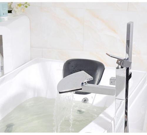 UHM, Wasserfall, Whirlpool Badewanne montieren Filler faucet mixer freistehende Dusche - 4