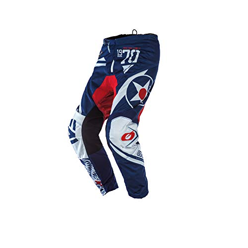 O'Neal Element Youth Warhawk Pants, Blue/Red, 5/6