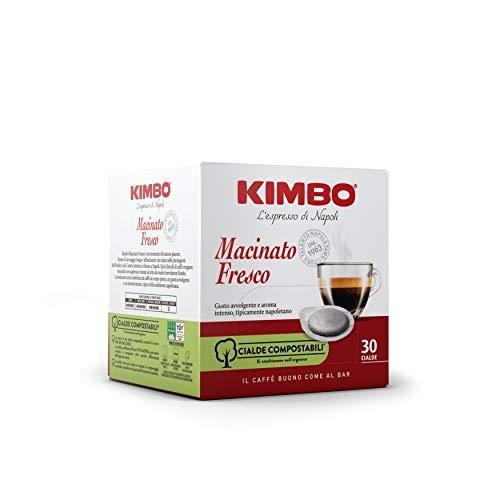 Kimbo Cialde Caffè Compostabili ESE Macinato Fresco, Tostatura Scura, 6 Pacchi da 30 Cialde (Totale 180 Cialde)